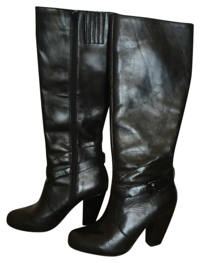 Seychelles Leather Knee-high Black Boots
