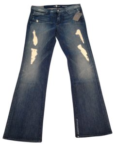 7 For All Mankind Fit Boot Cut Jeans-Light Wash
