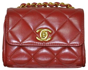 Chanel Leather Mini Flap Shoulder Bag