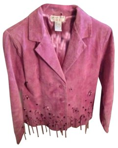 Victor Costa Leather pink Leather Jacket