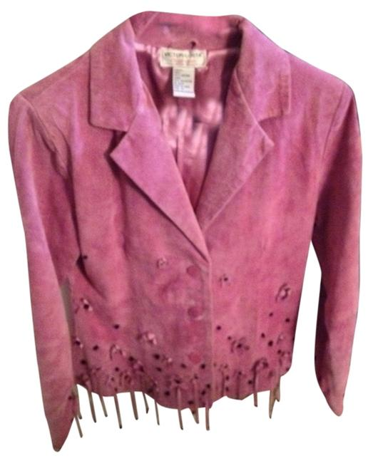 Victor Costa pink Leather Jacket