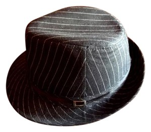 Wet Seal Black Pinstripe Fedora