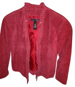 Dialogue red Leather Jacket