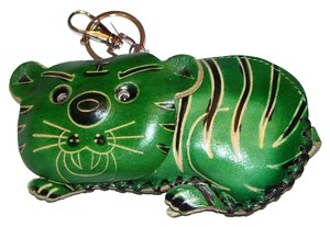 Other Green Tiger Coin Purse with Key Fob
