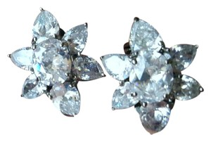Neiman Marcus Swarovski Crystal Flower Earrings