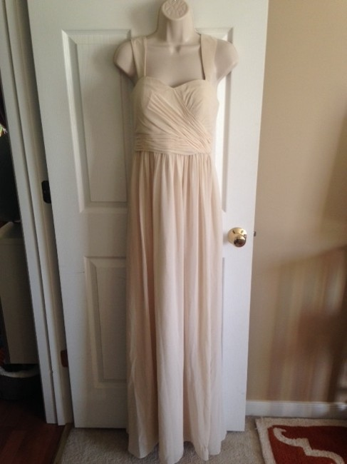 Item - Ivory Candlelight Polyester D1471m Formal Bridesmaid/Mob Dress Size 4 (S)