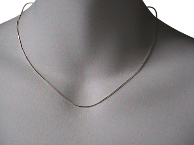 Sterling Silver Italy Snake Chain Style Necklace Image 1