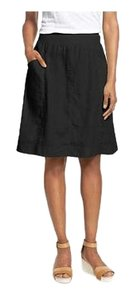 Eileen Fisher Linen Skirt Black