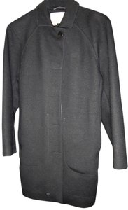 Icebreaker Merino Wool 3/4 Length Pet+smoke Free Side Pkts W/Zipper 2way Front Zip Coat