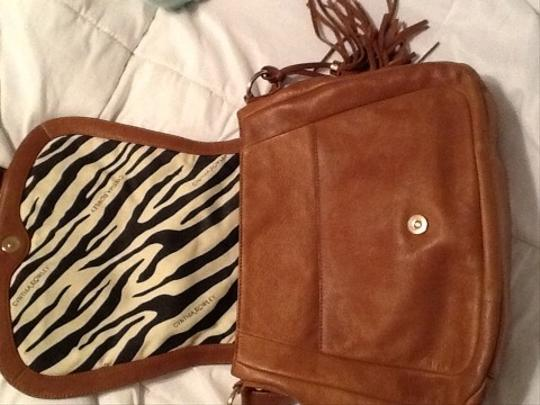 Cynthia Rowley Satchel in Brown and Beige