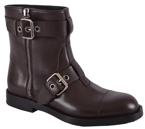 Gucci Men's Ankle Biker Brown Boots