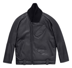 Alexander Wang Bomber H&m Designer Collab Oversized Leather Jacket