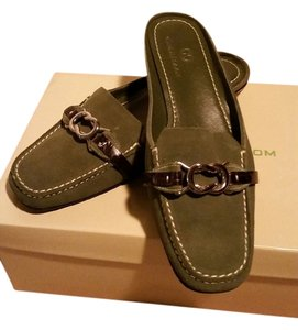 Cole Haan green Mules