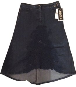 Gianfranco FERRE Jeans Denim Dark New With Tags Skirt Blue