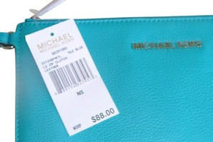 Michael Kors tile blue Clutch