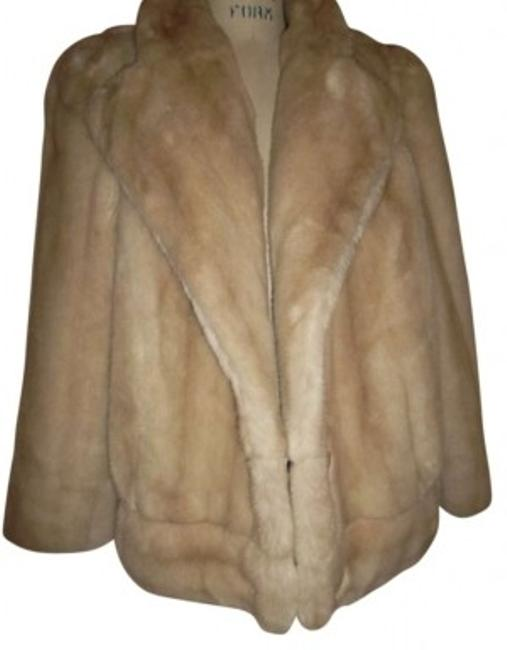 VINTAGE Faux-fur Glam Fur Coat