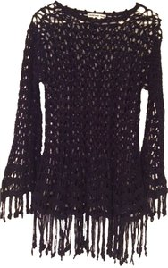 Vivienne Tam Crochet Hippie Chic Vintage Festival Long-sleeve Sweater