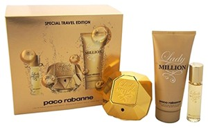 Paco Rabanne LADY MILLION Fragrance 3pc Travel Edition Set for Women. *Brand New*