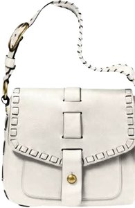 Coach Leather Laced White Hobo Shoulder Bag