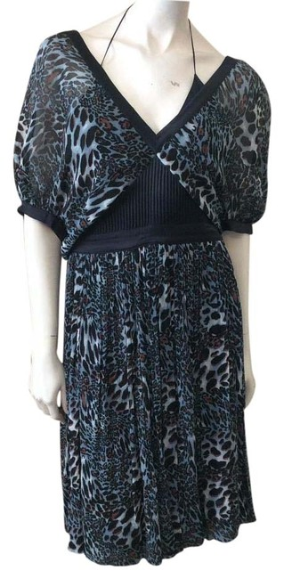 Item - Multicolor Animal Print Knee Length Night Out Dress Size 4 (S)