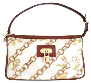 Louis Vuitton Charms Pochette Limited Edition Wristlet in White