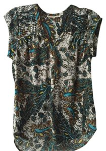 Daniel Rainn Top Tourquoise Print