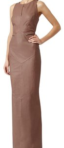 Reiss Leather Leather Maxi Dress