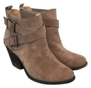 Sole Society Suede Bootie Buckles Taupe Boots