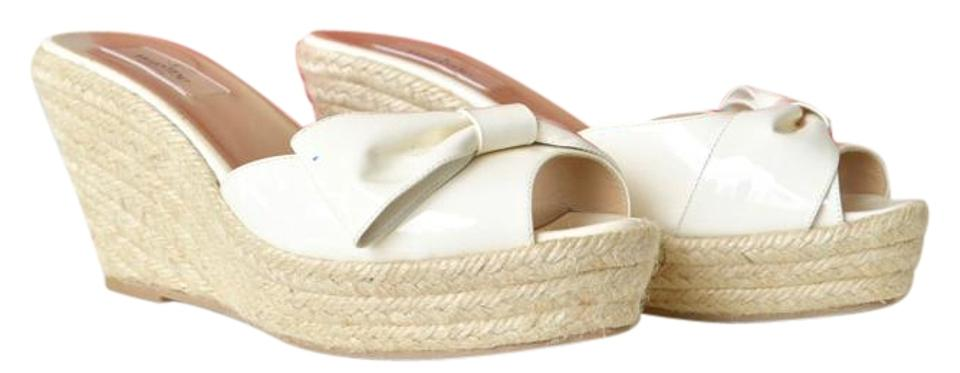 d997658ec8402 Valentino White Bow Sandal Espadrille 39 Wedges Size US 9 - Tradesy