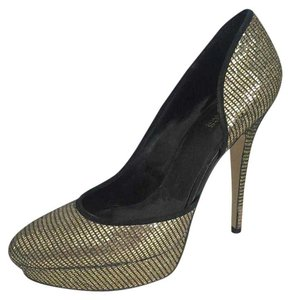Charles by Charles David Gold Metallic Gold Glitz Pumps