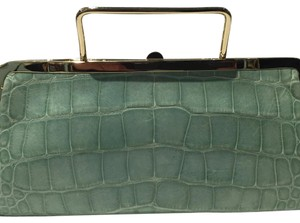 Kate Spade Mint Alligator Clutch