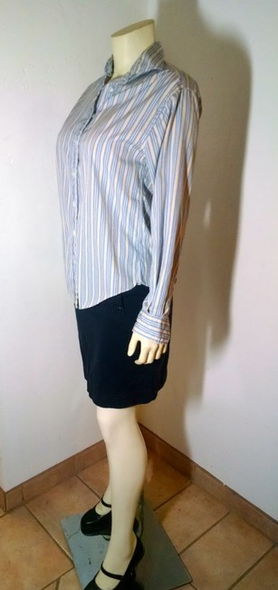 Façonnable Dress Shirt Size X-small Striped Long Sleeves P1024 Button Down Shirt blue, yellow, white