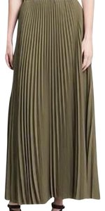 Banana Republic Heritage Pleated Maxi Skirt Tigers eye green