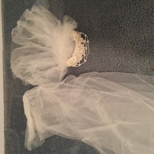 Priscilla Of Boston Cathedral Veil With A Dusting Of Pearls