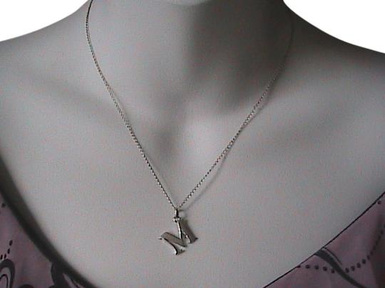 Preload https://img-static.tradesy.com/item/1592647/sterling-silver-initial-m-necklace-0-0-540-540.jpg