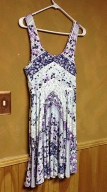 Free People short dress Purple and blue on Tradesy