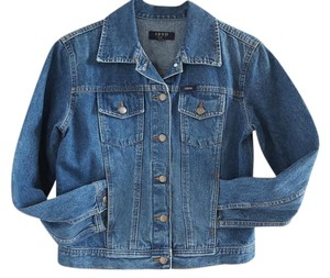 Izod Denim Denim Blue Womens Jean Jacket