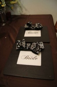 Bride and Groom Signs Reception Decoration