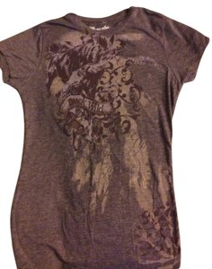 Wrangler Buck Wild Fitted Horse Bucking Swirl Design Bnwt Brand New New Bodycon T Shirt Brown