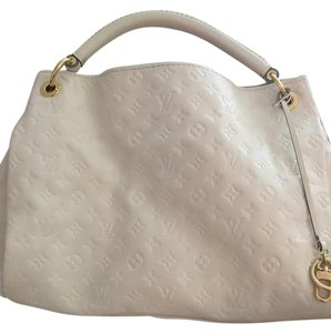 Louis Vuitton Artsy Hobo Leather Mm Logo Shoulder Bag