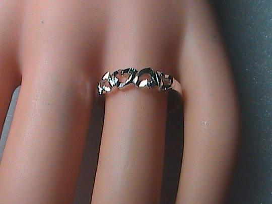 Unknown Sterling Silver Diamond-Cut Heart Ring