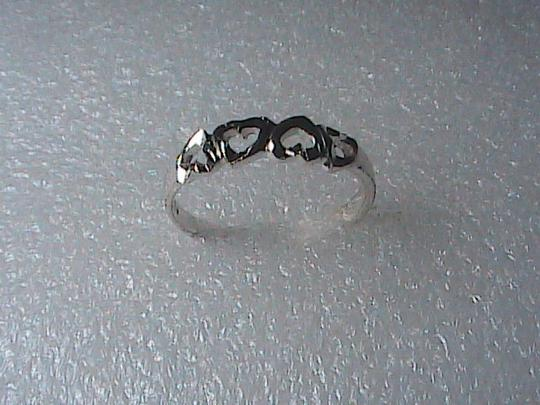 Unknown Sterling Silver Diamond-Cut Heart Ring Image 4