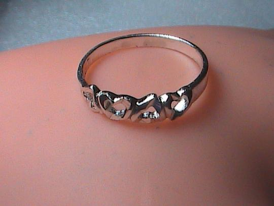 Unknown Sterling Silver Diamond-Cut Heart Ring Image 7