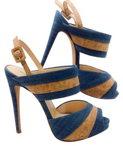 Alexandre Birman Blue natural Platforms