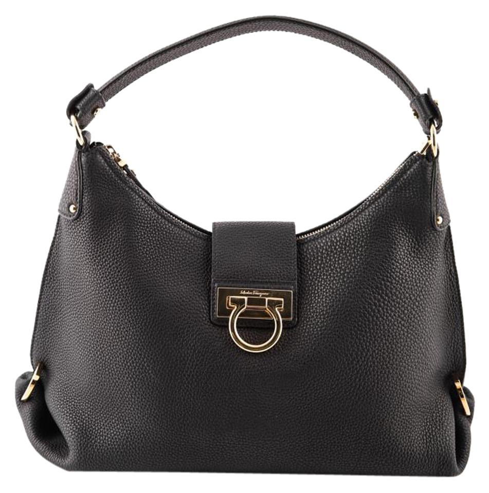 salvatore ferragamo leather 39 fanisa 39 shoulder bag on sale 27 off shoulder bags on sale. Black Bedroom Furniture Sets. Home Design Ideas