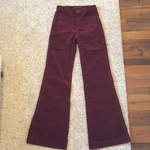J Brand High Waisted Cord Flare Leg Jeans