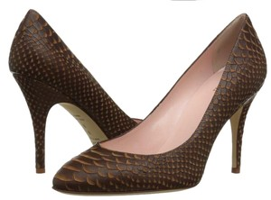 Kate Spade Snakeskin Leather Classic Brown Pumps