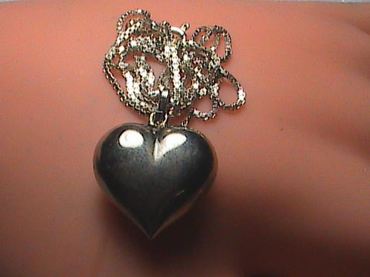 Vintage Sterling Silver Heart Necklace.