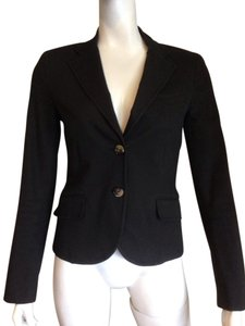 Theory Theory Classic Fitted Two Button Black Suit Blazer