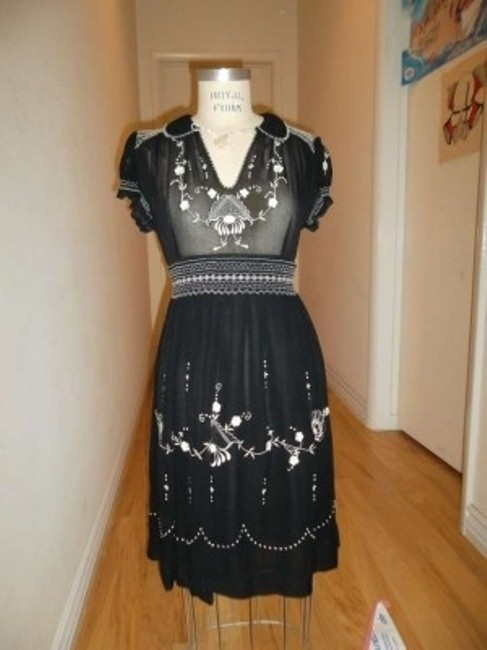 Lucky Brand short dress Embroidered 60s Style Hippie-chic on Tradesy